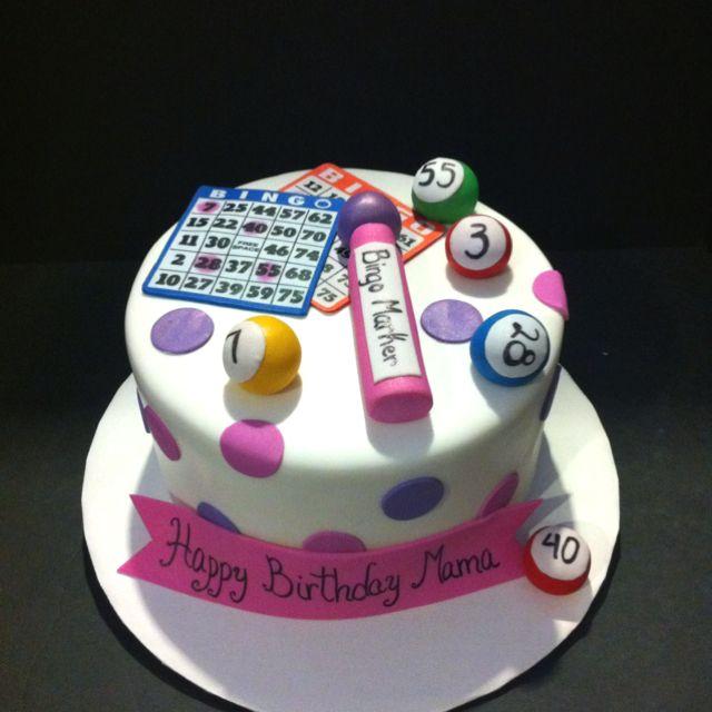 Bingo cake hahaha love this for You and Jordan.