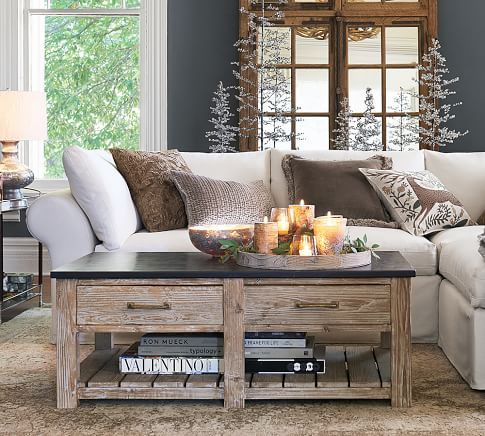 Parker Reclaimed Wood Side Table | Pottery Barn