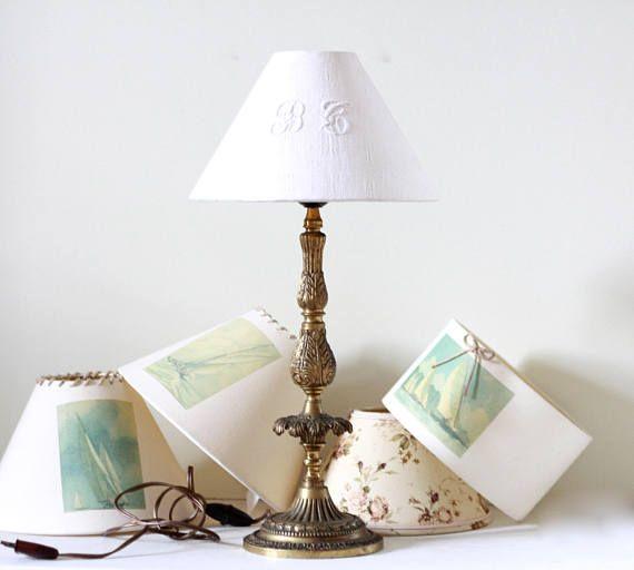 Français lampe antique en bronze pur. Lampe de table. Lampe de