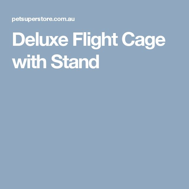 Deluxe Flight Cage with Stand