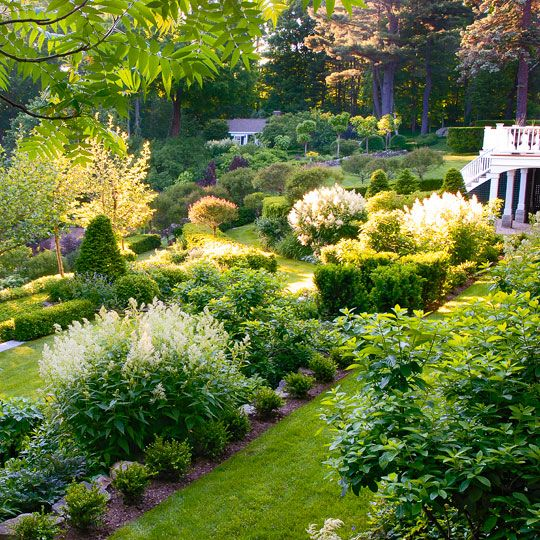 This stunning garden takes up 12 acres of New Hampshire land. - Traditional Home ® / Photo: Matthew Benson / Design: Gordon Hayward