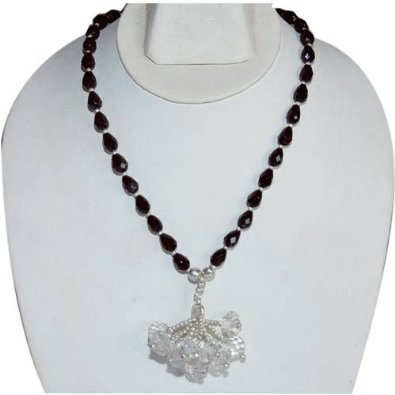 Y Necklace for Women Sterling Silver Black Onyx Gemstone Jewelry 16.5 Inches: Jewelry: Amazon.com