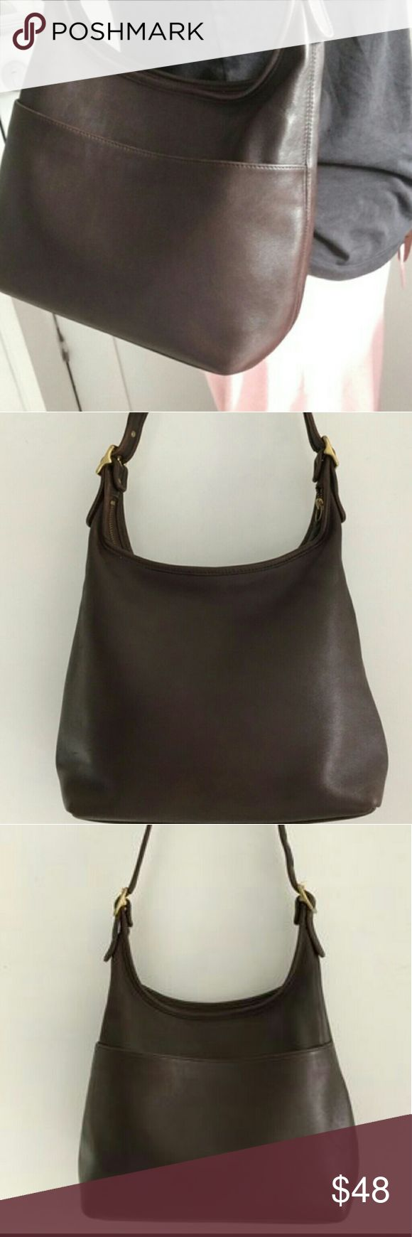 "Vintage Coach Legacy Brown Shoulder Bag made in th Vintage Coach Legacy Brown Shoulder Bag Adjustable strap 23"" inches. 13"" wide and 12"" tall approximately. Coach Bags Shoulder Bags"