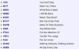 Internet Slang - Internet Dictionary - internet and slang words