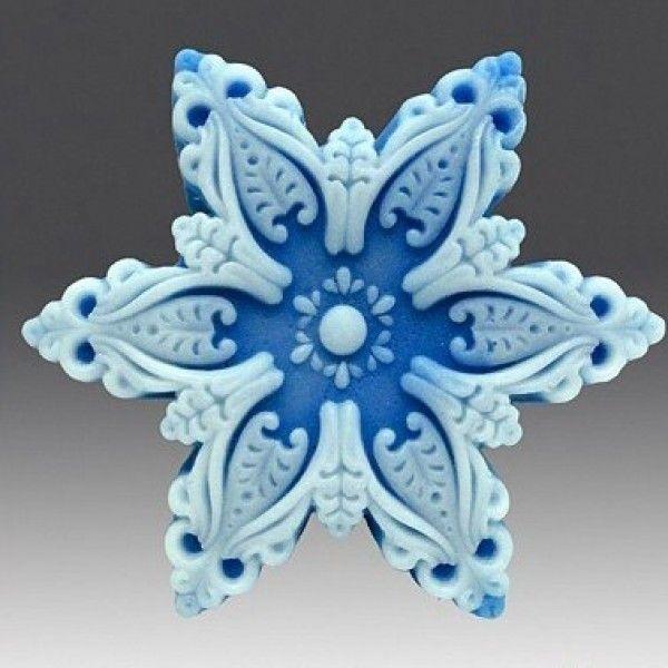 Снежинка №2 - форма для мыла.