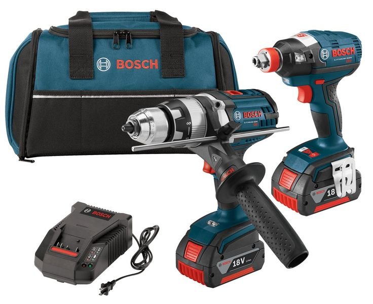 Bosch CLPK224-181 18-volt Lithium-Ion 2-Tool Combo Kit with 1/2-Inch Hammer Drill/Driver, Impact Driver, 2 Batteries, Charger and Contractor Bag. Active response technology on the HDH181X gives superior control in bind-up situations. The HDH181X is built tough with borsch exclusive Durashield housing and all metal gearbox to withstand rugged jobsite conditions. IDH182 is an all-in-one impact driver and impact wrench with a 1/4-Inch quick-change hex and 1/2-Inch square drive chuck for...
