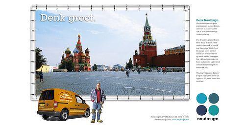 Nautasign advertentie campagne 'Denk Groot', ontwikkeld door Dizain (www.dizain.nl).