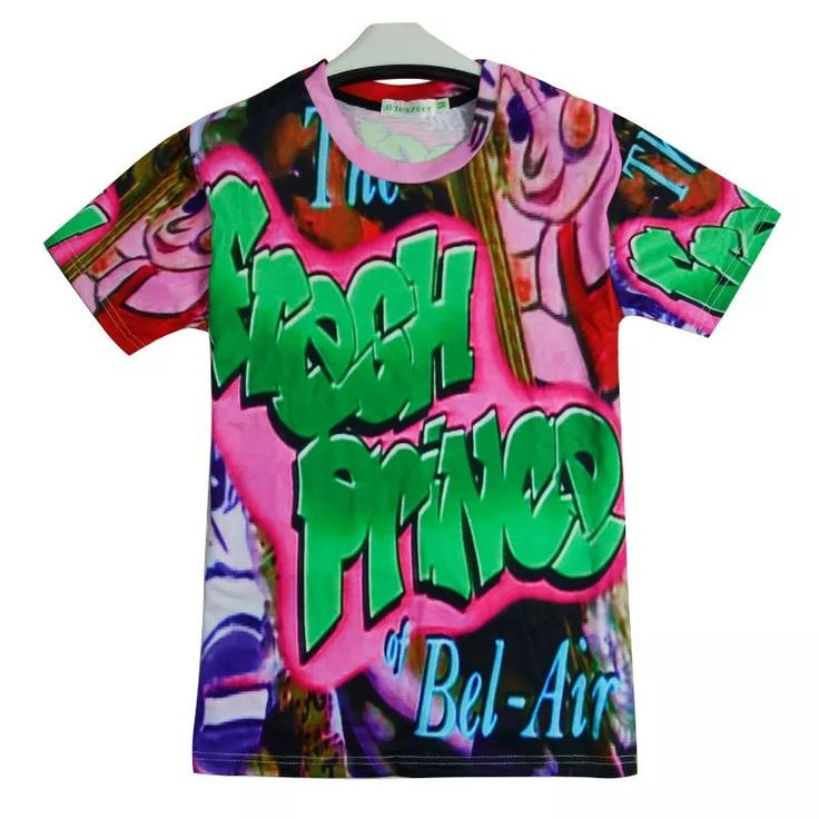Get your swag on with this Fresh Prince of Bel Air 3D T Shirt. Short sleeve 85% Polyester 15% Spandex