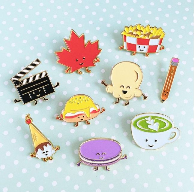 0.93$  Watch now - Free Shipping Cute Cartoon Leaf Hamburg Fries Cup Ice Cream Brooch Pin Button Pins Girl Jeans Clothes Decoration Gift Wholesale   #buyonlinewebsite