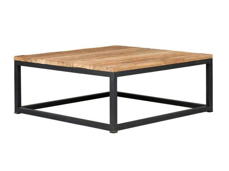 Couchtisch 85x85 Rustikal Tisch Metall Eisen Möbel Teak Wohnzimmertisch  Manchu In Möbel U0026 Wohnen, Möbel