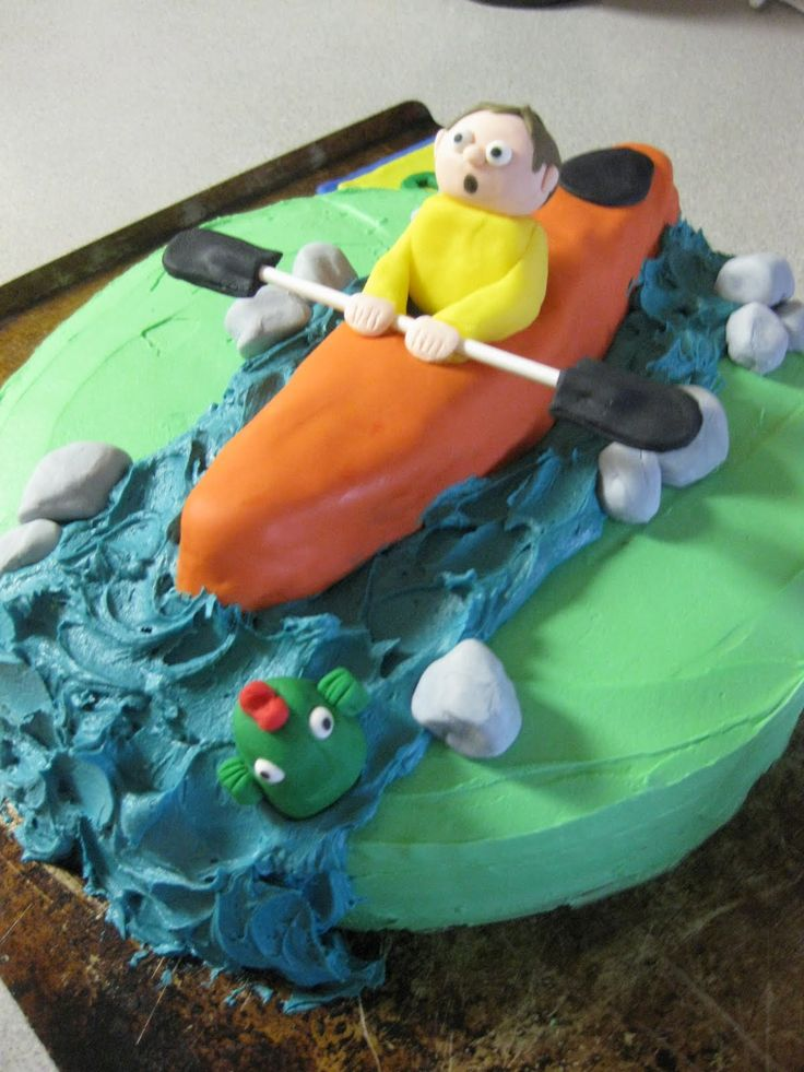 11 Best Paddling Party Cakes Images On Pinterest Kayak