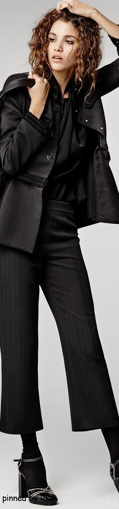 Giorgio Armani Pre Fall 2016 l Ria women fashion outfit clothing style apparel @roressclothes closet ideas