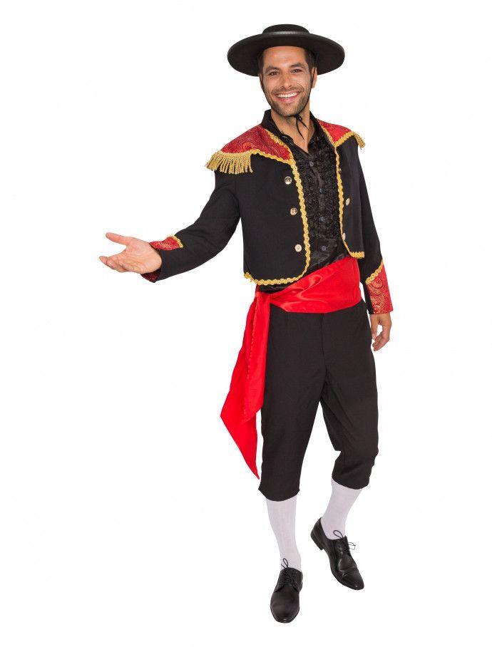 Stierkämpfer Kostüm 3-tlg für Karneval kaufen  7eacd8c3545ba