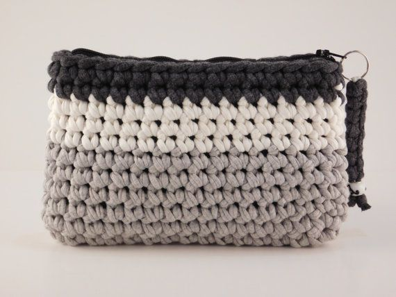 Multi Coloured Purse Crochet Purse Handmade Fabric Bag T