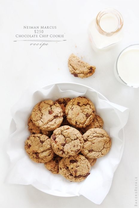 Neiman Marcus Chocolate Chip Cookie Recipe by Bakers Royale.....click on picture for recipe