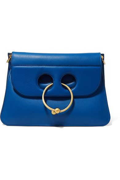 One of this season's hottest bags, J.W.Anderson's 'Pierce' is defined by its cutout front and chic gold circular barbell. This cobalt version is medium in size and has a detachable shoulder strap, so you can carry it as a clutch. We love the accordion structure that can be expanded or stay slim in profile depending on the desired look.