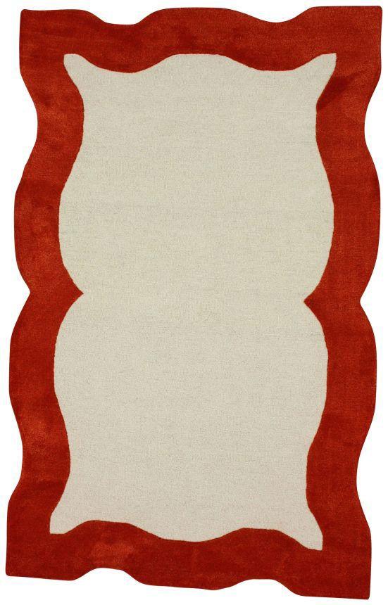 Rugs USA Satara Nanda Orange Rug,75% Wool, 25% Viscose, Hand Tufted, Contemporary Rugs, modern, home decor, sale, discount.