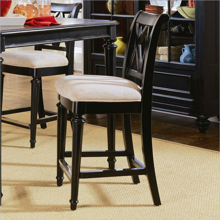 Have to have it. American Drew Camden Black Counter Height Stools - Set of 2 - $590 @hayneedle