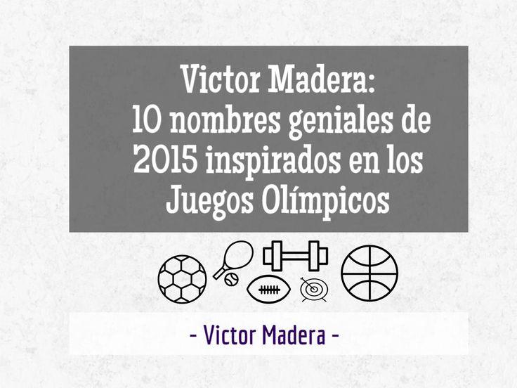 Esta semana en Victor Madera Vet las claves para ponerle un nombre estupendo a su mascota. ¡No se lo pierdan!