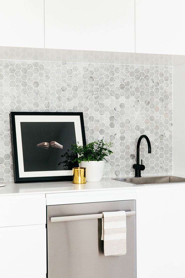i love marble hexagons, so simple, such a great pattern and a visual texture