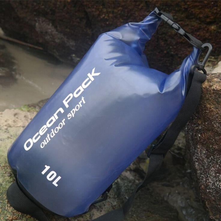 2L 5L 10L Waterproof PVC Swimming Bag Outdoor Bucket Dry Sack Storage Bag Travel River trekking Rafting drifting Kayaking 1 PCS