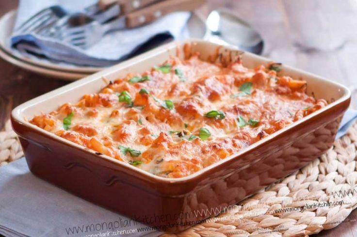 Creamy Chicken Pasta Bake Recipe - baked Macaroni Recipe ...
