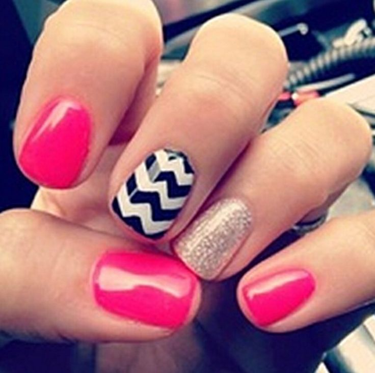 Considerable Cute Nail Designs for the Young Girls : Cute Easy Nail Ideas  For Short Nails. cute nail diy ideas,cute nail gallery,cute new nail designs - 102 Best For The Love Of Nails Images On Pinterest Make Up