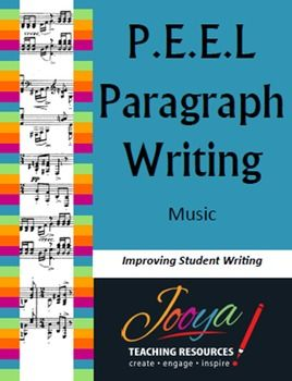 This is an invaluable teaching resource for paragraph writing in Music.The questions are designed for students to engage quickly with the music and answer easily. There is a paragraph writing template for each of the Concepts of Music - Pitch, Duration, Tone Colour, Texture, Structure and Dynamics and Expressive Techniques.Each template includes questions about the concept, words to help answer, a P.E.E.L.
