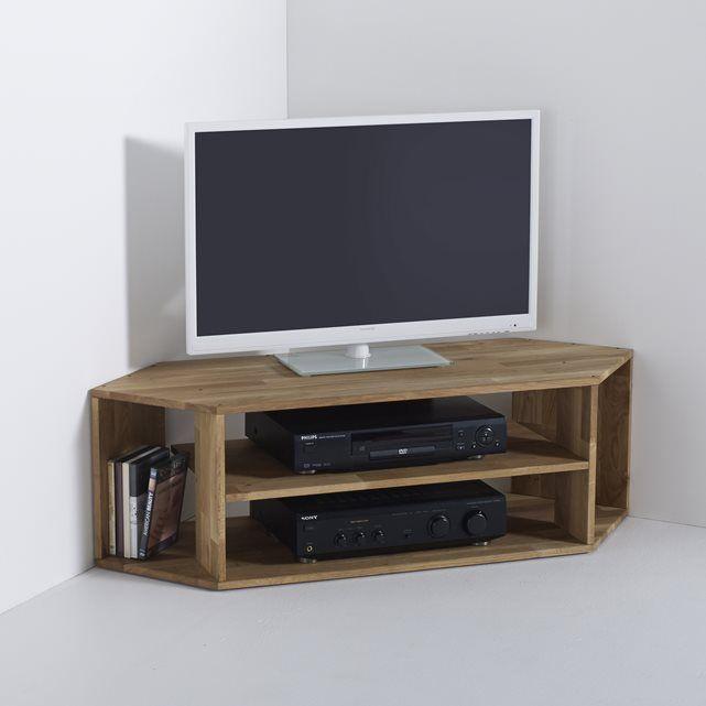 EDGAR Solid Oak Corner TV Unit