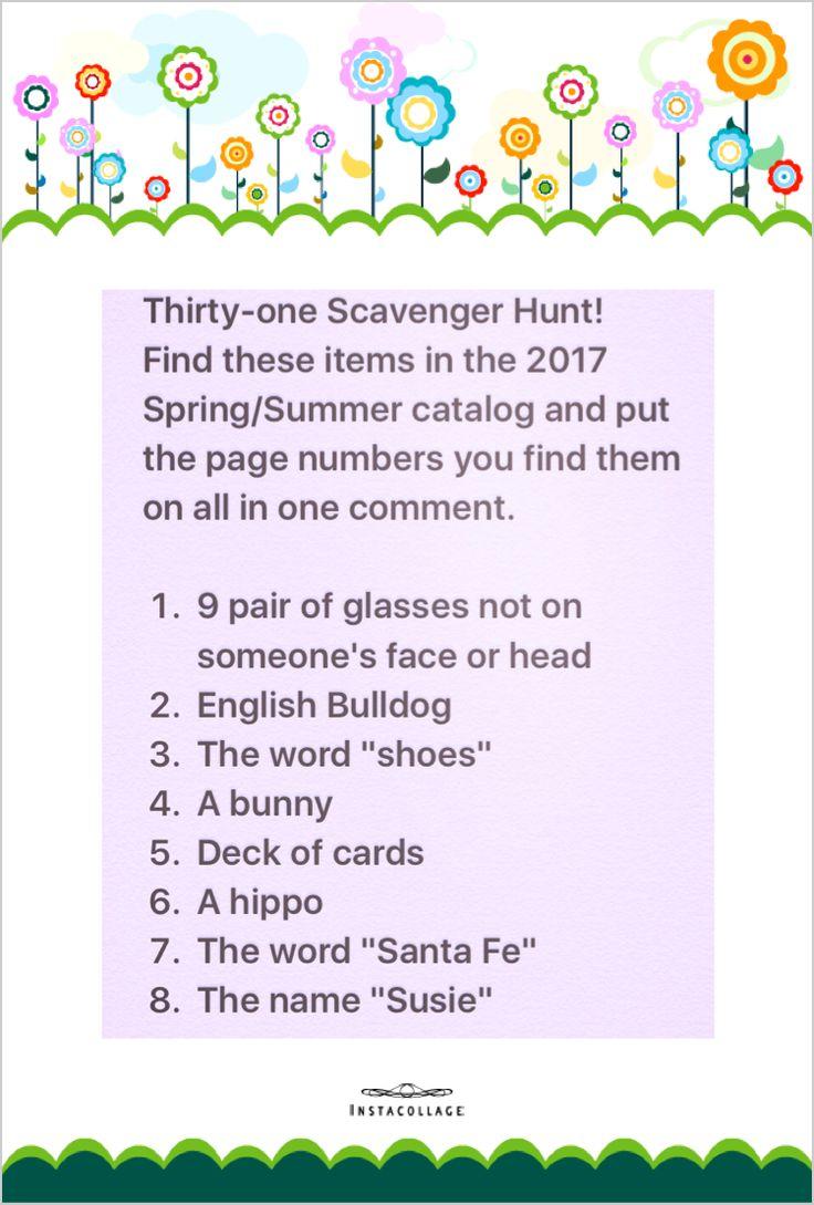 Thirty one 2017 spring/summer catalog Scavenger hunt.....https://www.mythirtyone.com/purseonalitynmore