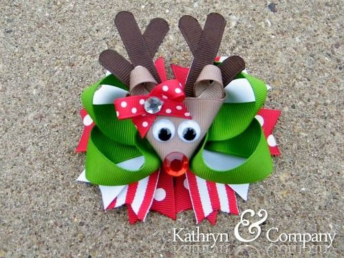 Reindeer bow - need to make one or two of these for my girls!!!