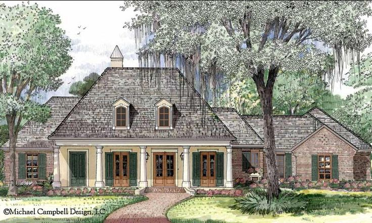 Louisiana style house plans house plan country for Country french house plans louisiana