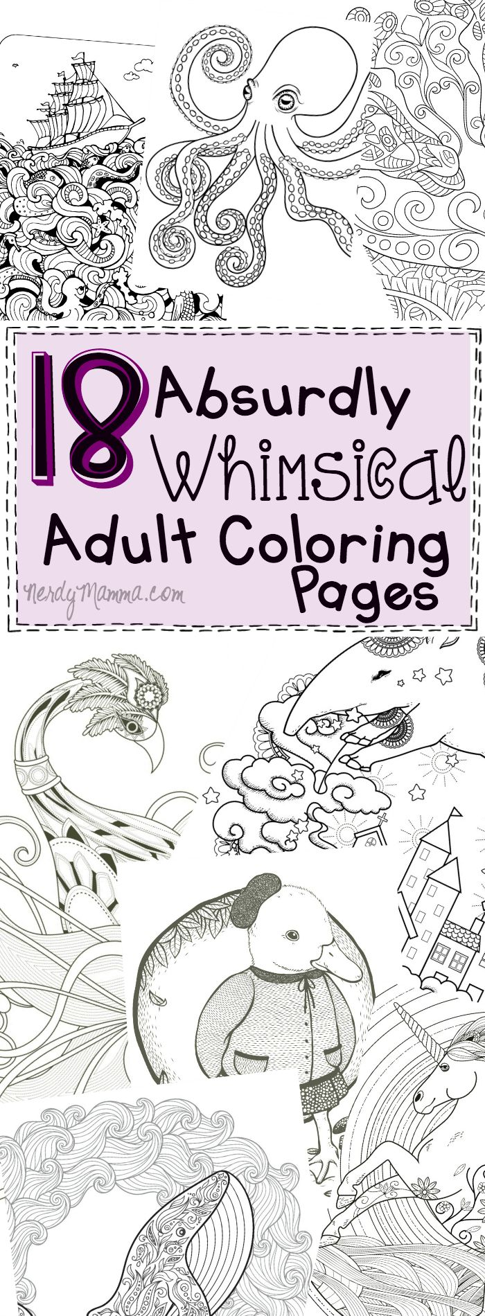 Coloring pages for donna flor - 18 Absurdly Whimsical Adult Coloring Pages
