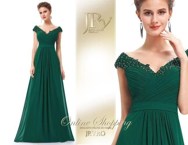 Rochie de seara Margot Green - JRV Exclusive Couture // JRV.ro