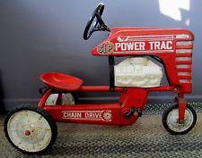 Original ANTIQUE Vintage AMF POWER TRAC 502 CHAIN DRIVE PEDAL CAR TRACTOR