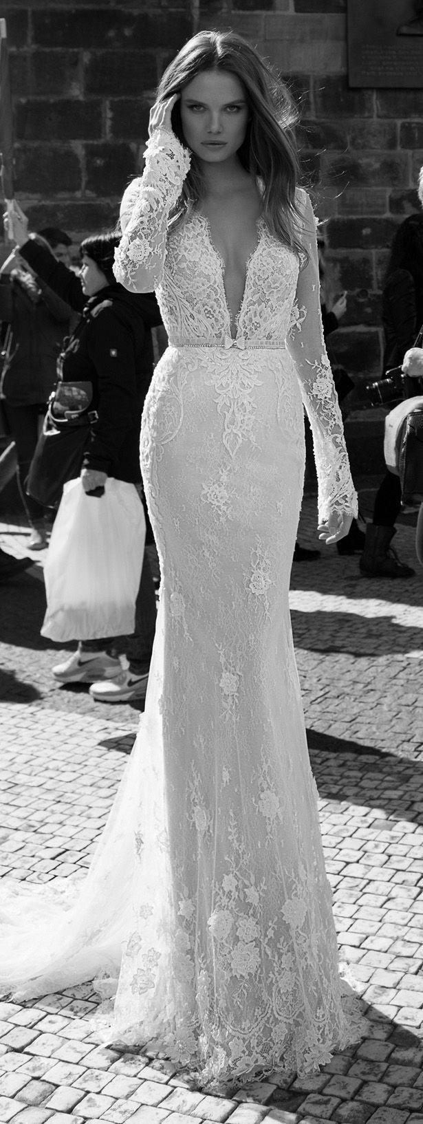 30 Chic Long Sleeve Wedding Dresses | http://www.deerpearlflowers.com/long-sleeve-wedding-dresses/