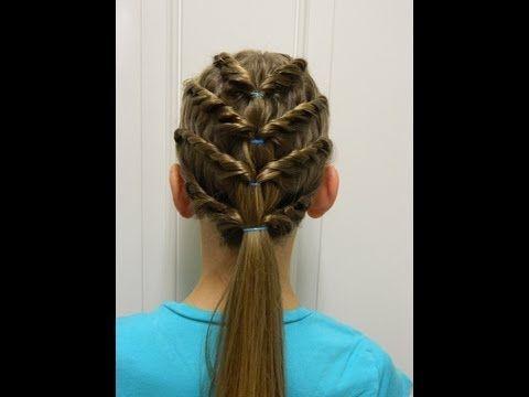 Four layered twist / Bonita Hair Do - YouTube