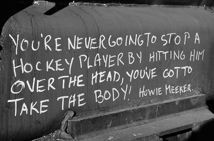 Hockey quote ...perfect for my family room!
