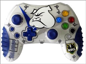 Xbox NRL Rugby League Canterbury Bankstown Bulldogs Team Controller.