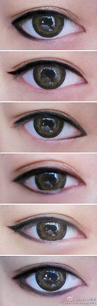 6 different eyeliners #eyes #makeup #tutorial Perfect eyeliner techniques…