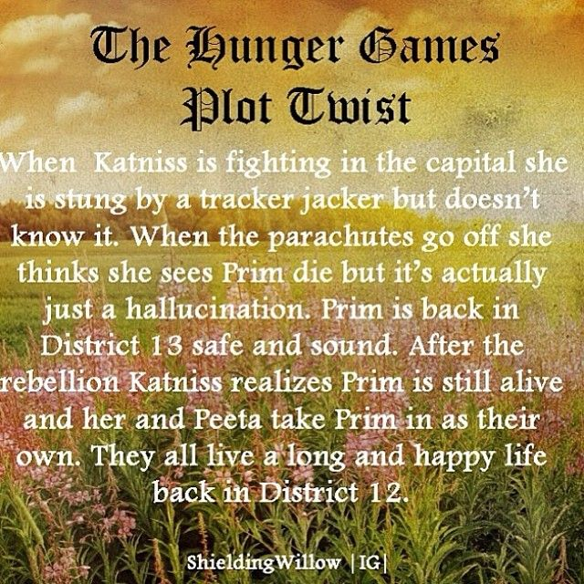 Credit goes to @shieldingwillow ( one of the best hunger games plot twist I've seen!) I love this ending a whole lot better than the books!!! WHYYY PRIM WHYYYYYY!!!