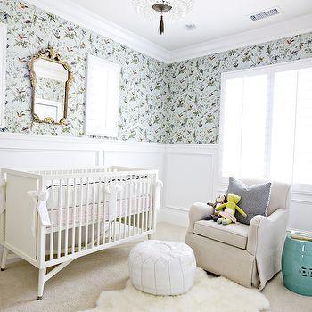 Nursery Wainscoting, Transitional, nursery, Studio McGee
