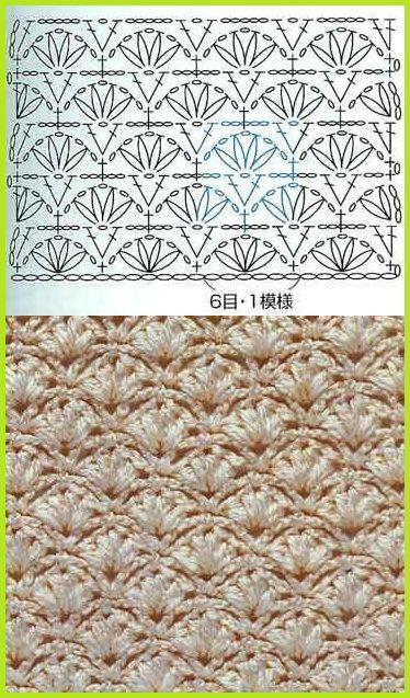 crochet stich ❥Teresa Restegui http://www.pinterest.com/teretegui/❥