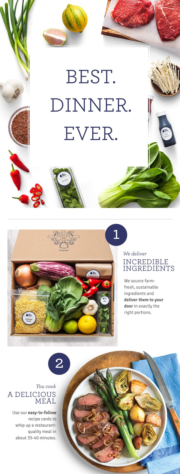 Blue apron edmonton - Blue Apron Makes It Easy To Create Incredible Meals Each Week With Farm Fresh Produce