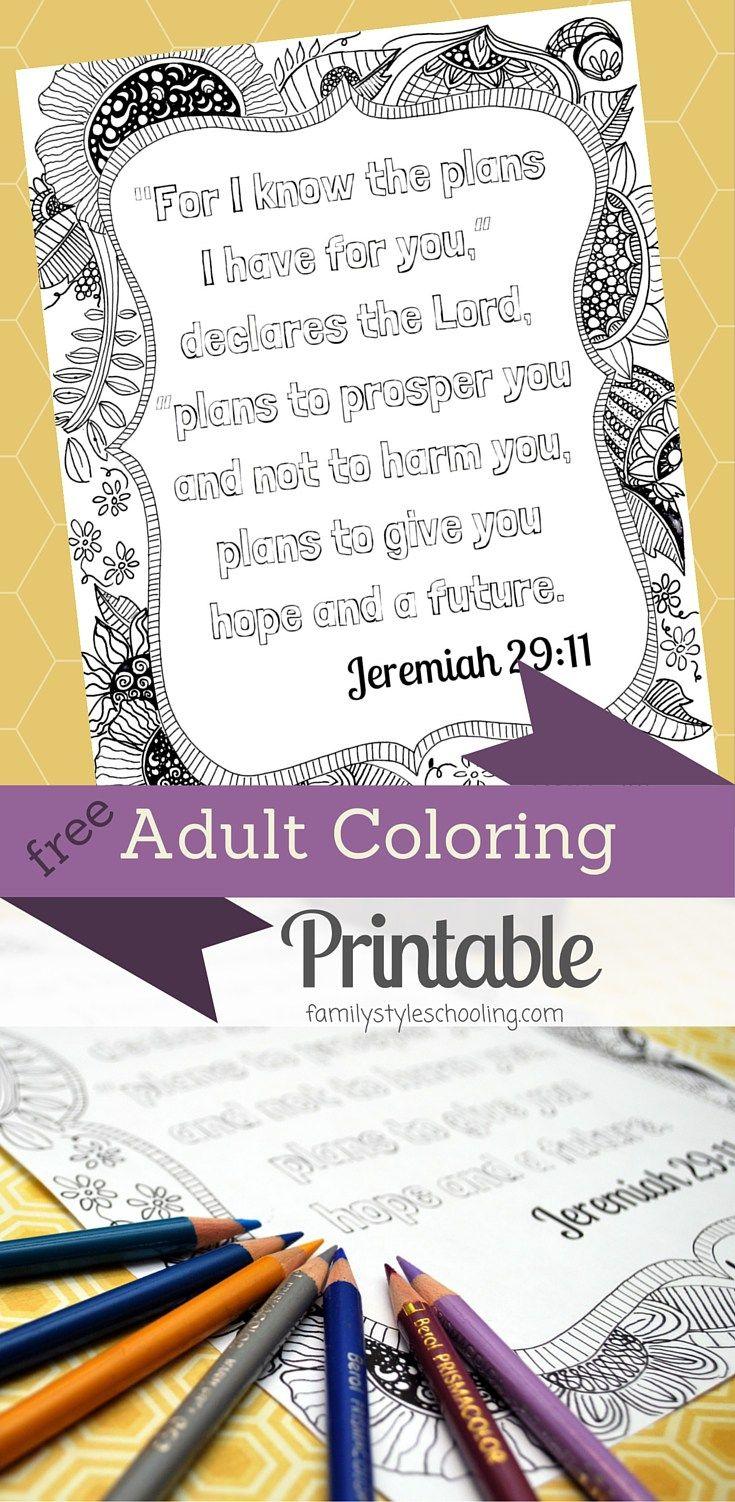 Scripture Meditation Free Adult Coloring Printable