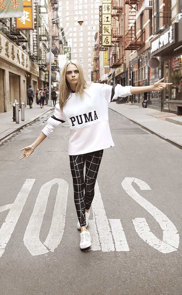 """It says """"STOP"""" but she just keeps on a walkin' cause that's Cara ❤"""