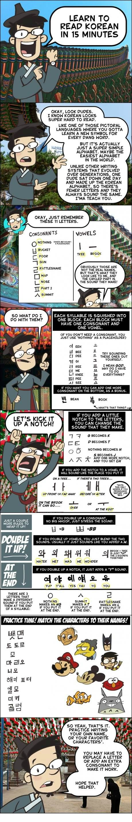 Learn how to read Korean! :D