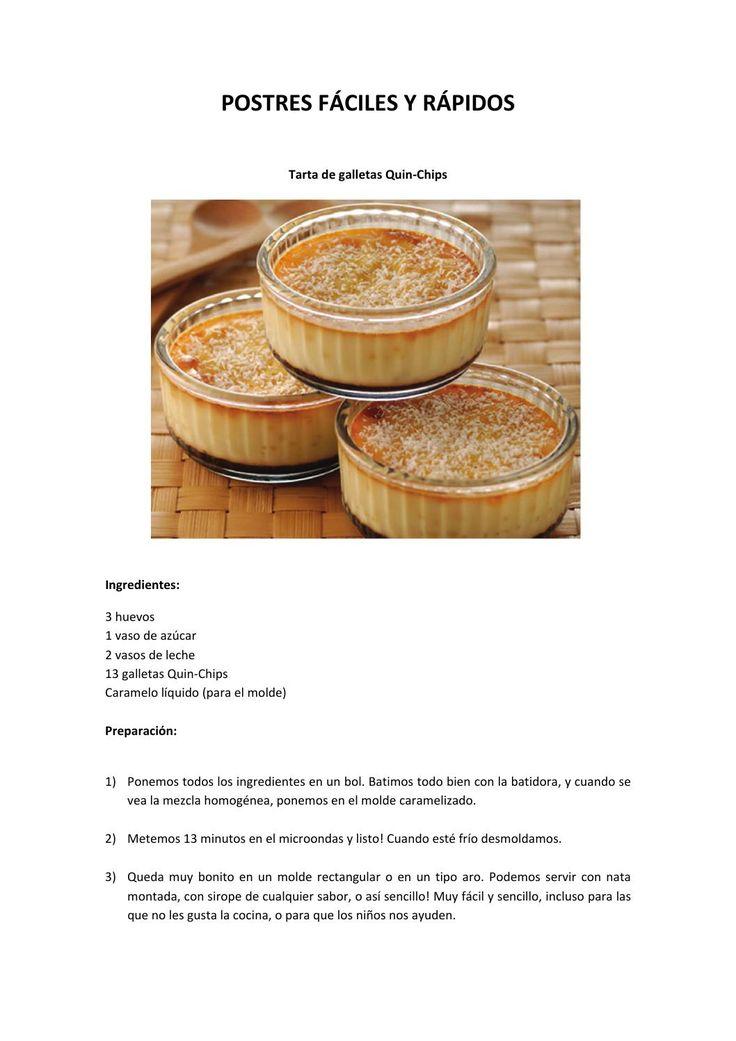 recetas faciles de realizar con galletas quin-chips