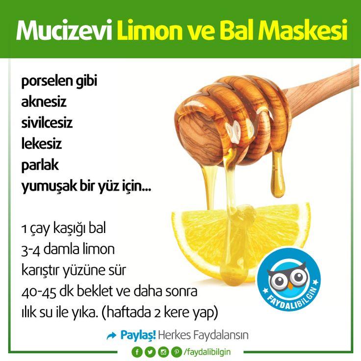 Mucizevi Limon ve Bal Maskesi! @faydalibilgin #sağlık #kadın #bilgi #fikir #mutfak #cilt #güzellik #bakım #pratik #pratikbilgi #sağlıkbilgileri #faydalı #yaşam #faydalıbilgi #faydalıbilgin #idea #ideas #healthy #tips #like #lifestyle #fresh #healthylifestyle #turkey #türkiye #woman #women