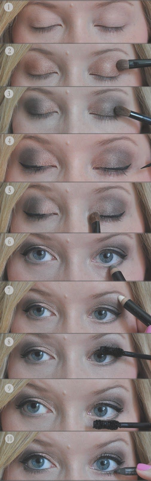 Kate's from The Small Things Blog: smokey eye guide, it's all about the gel eyeliner slightly winged out - i need to master this!